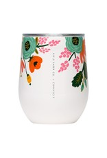 Corkcicle Rifle Paper Stemless - 12oz Gloss Cream - Lively Floral