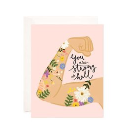 Bloomwolf Studio Bloomwolf - Strong As Hell Greeting Card