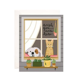 Bloomwolf Studio Bloomwolf - Wish You Were Pets Greeting Card
