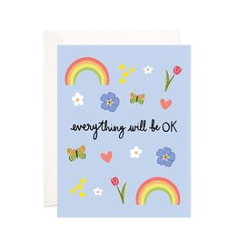 Bloomwolf Studio Bloomwolf - Everything Will Be Ok Greeting Card