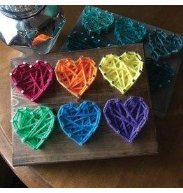Strung By Shawna Six Hearts Mini String Art Kit - DIY