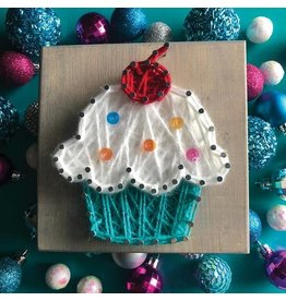 Strung By Shawna Cupcake Mini String Art Kit - DIY