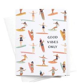 Onderkast Studio Onderkast - Good Vibes Only Greeting Card