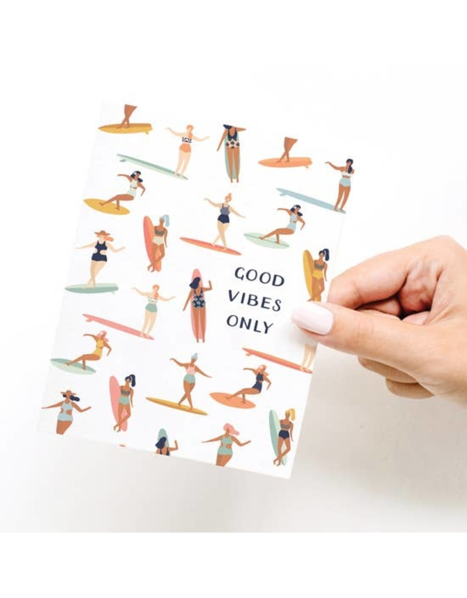 Onderkast Studio Onderkast - Good Vibes Only Greeting Card