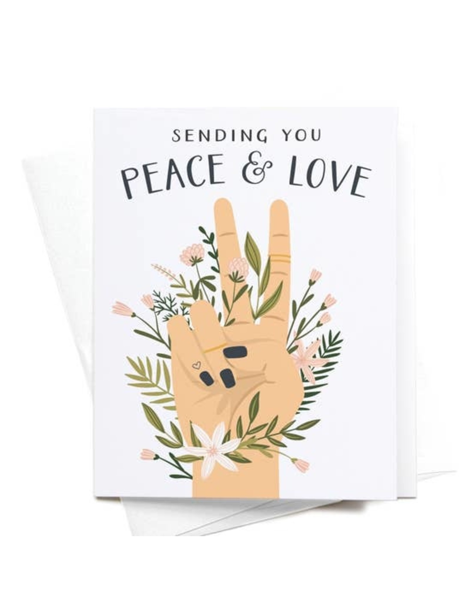 Onderkast Studio Onderkast - Sending You Peace & Love Greeting Card