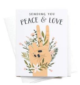 Onderkast Studio Onderkast - Sending You Peace & Love Greeting Card