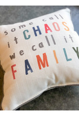 Little Birdie Some Call it Chaos Family Piped Pillow