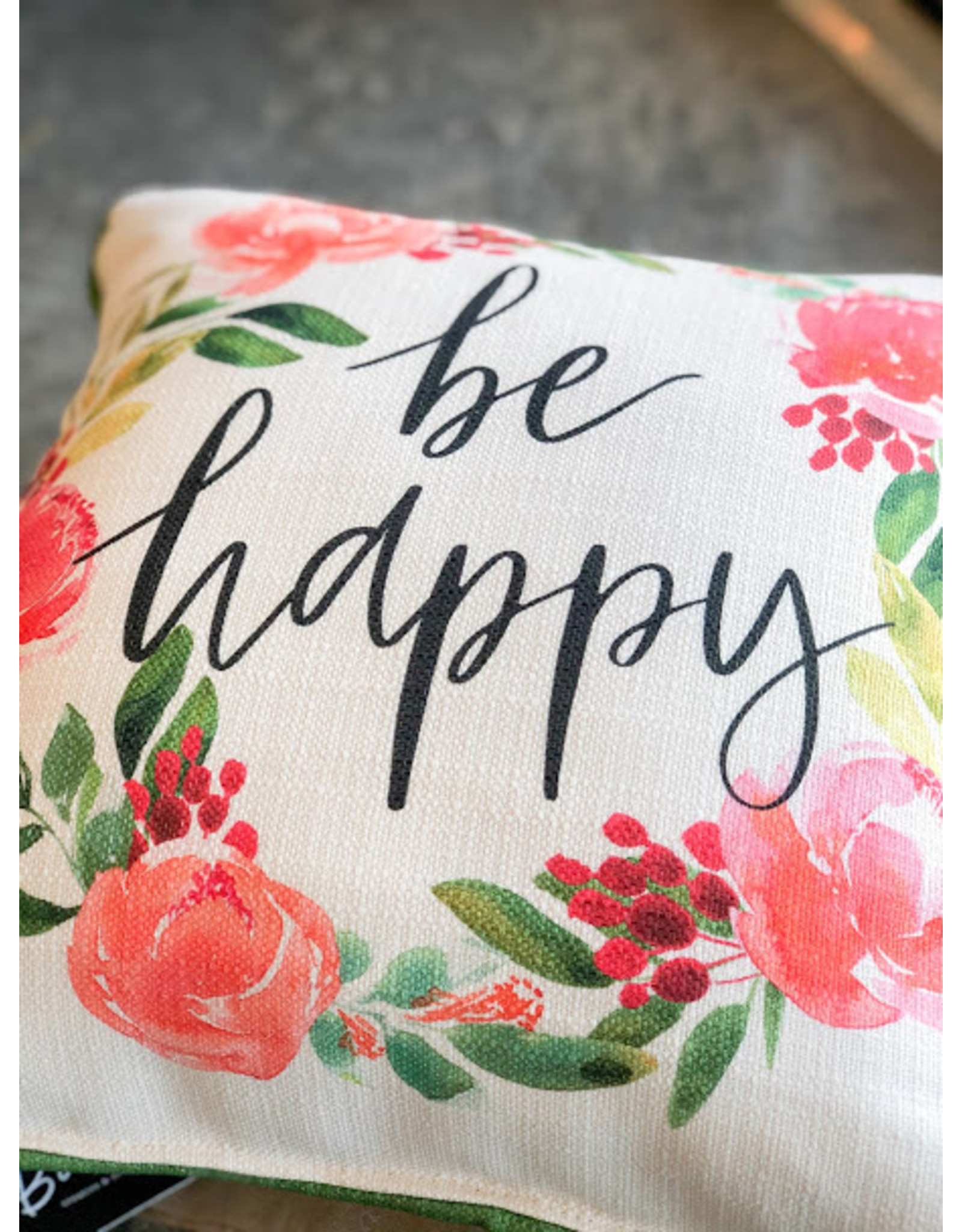 Little Birdie Be Happy Rainbow Piped Pillow