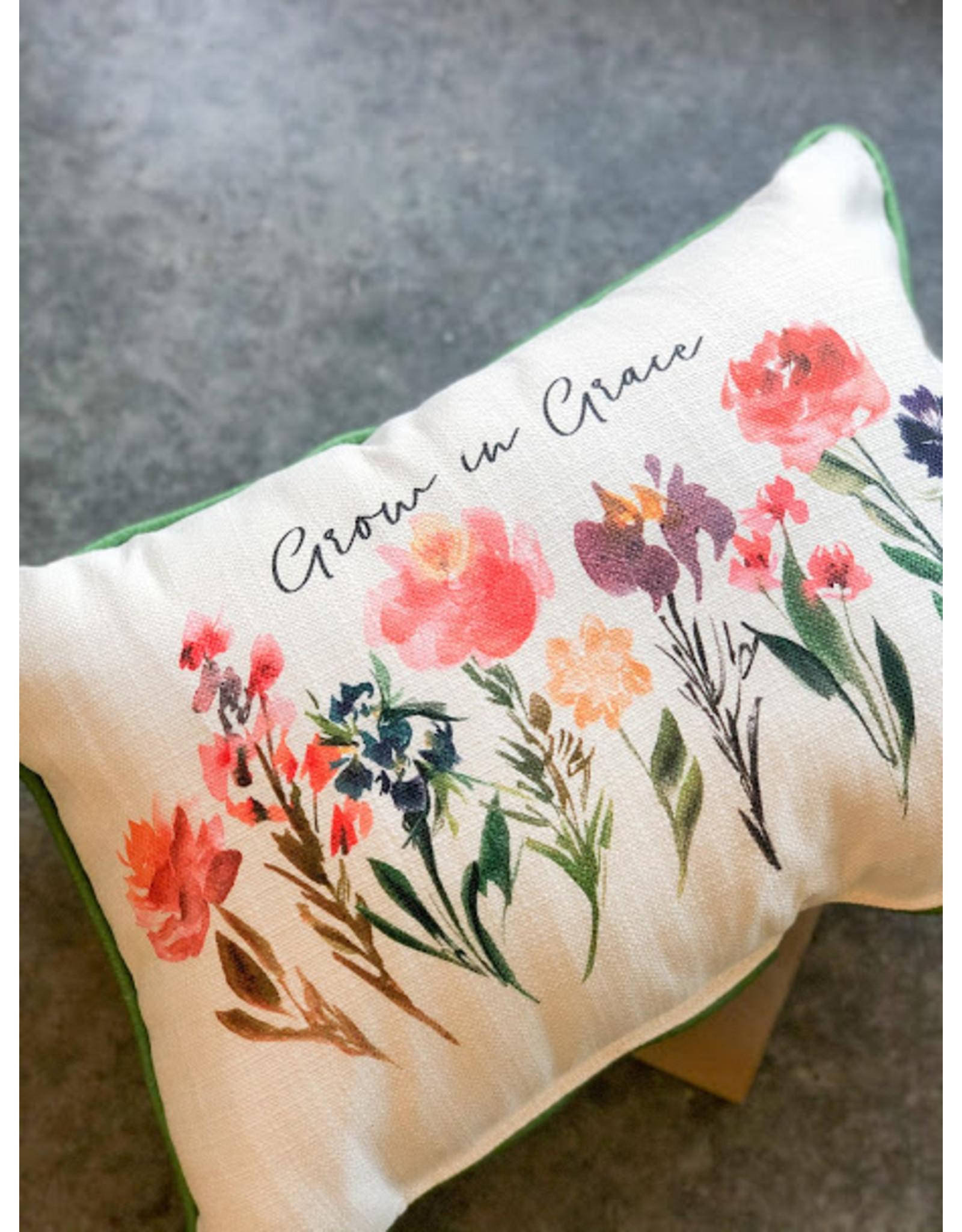 Little Birdie Grow in Grace Piped Pillow