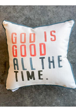 Little Birdie God is Good Piped Pillow