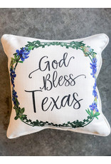 Little Birdie God Bless Texas Piped Pillow