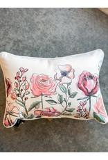 Little Birdie Garden Florals Piped Pillow