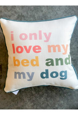 Little Birdie My Bed and my Dog Piped Pillow