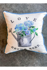 Little Birdie Love Grows Here Piped Pillow