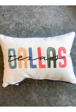 Little Birdie Multi City State Poster Bright - Dallas - Piped Pillow