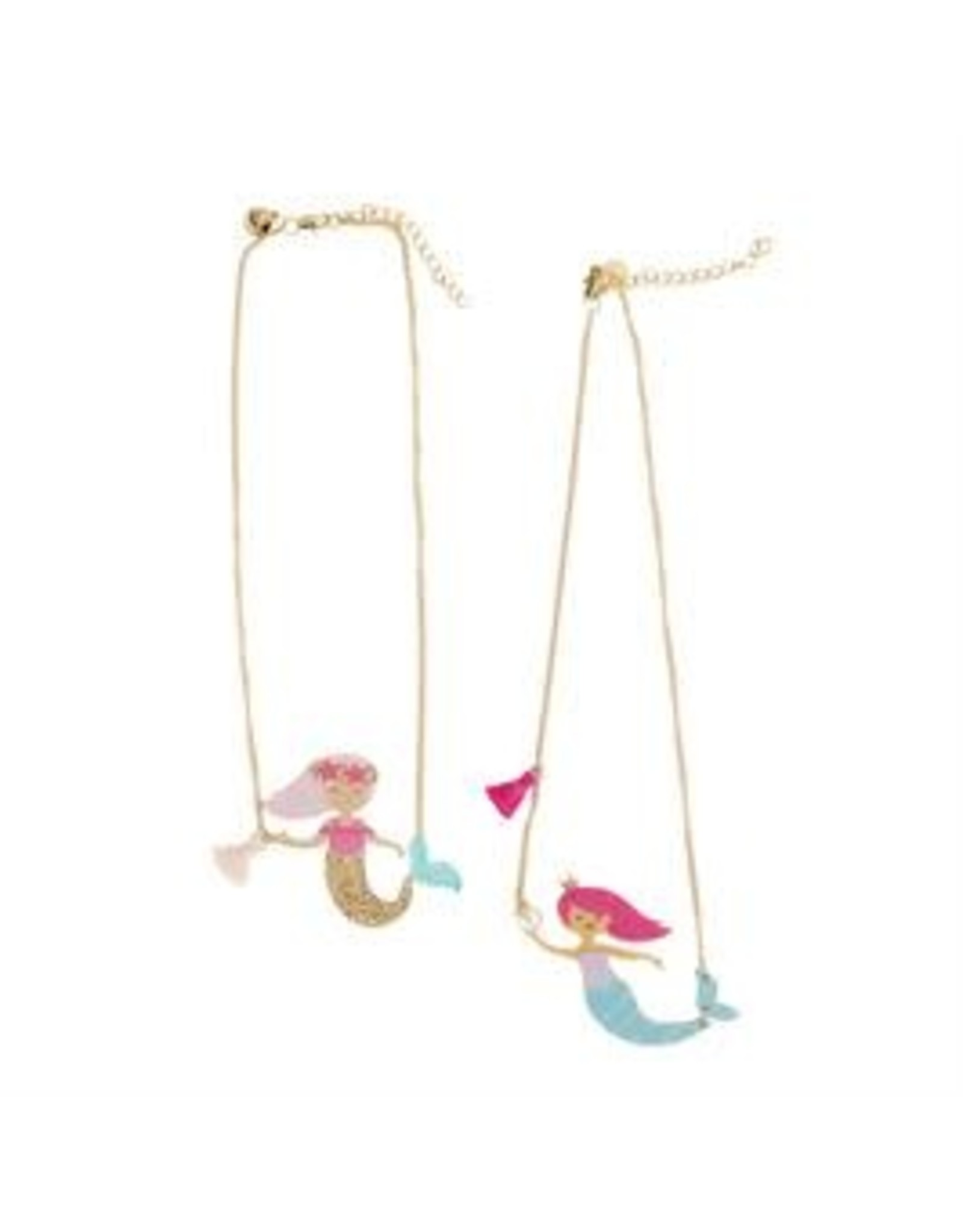 Mud Pie Gold Tail Mermaid Necklace