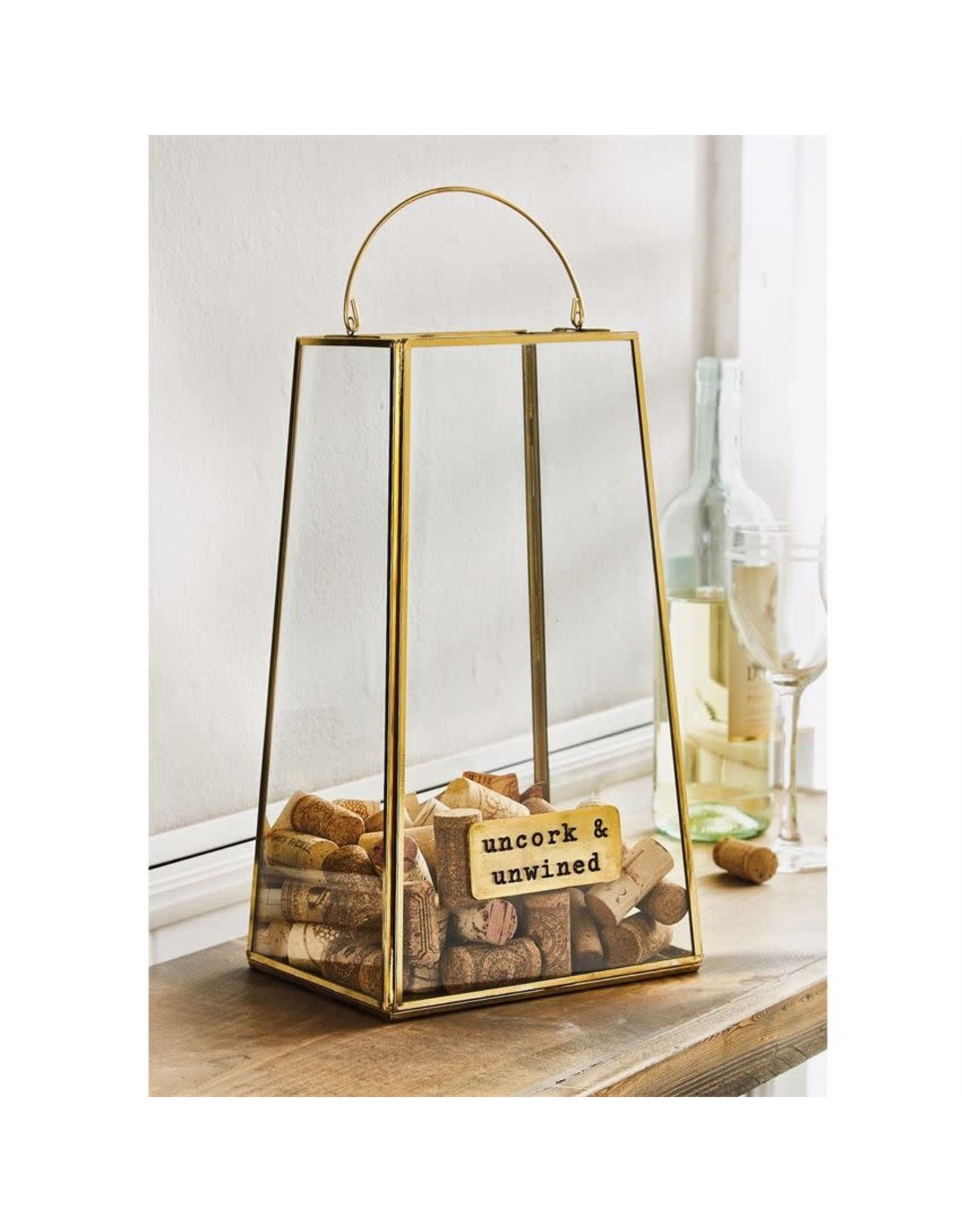Mud Pie Brass Cork Display Box