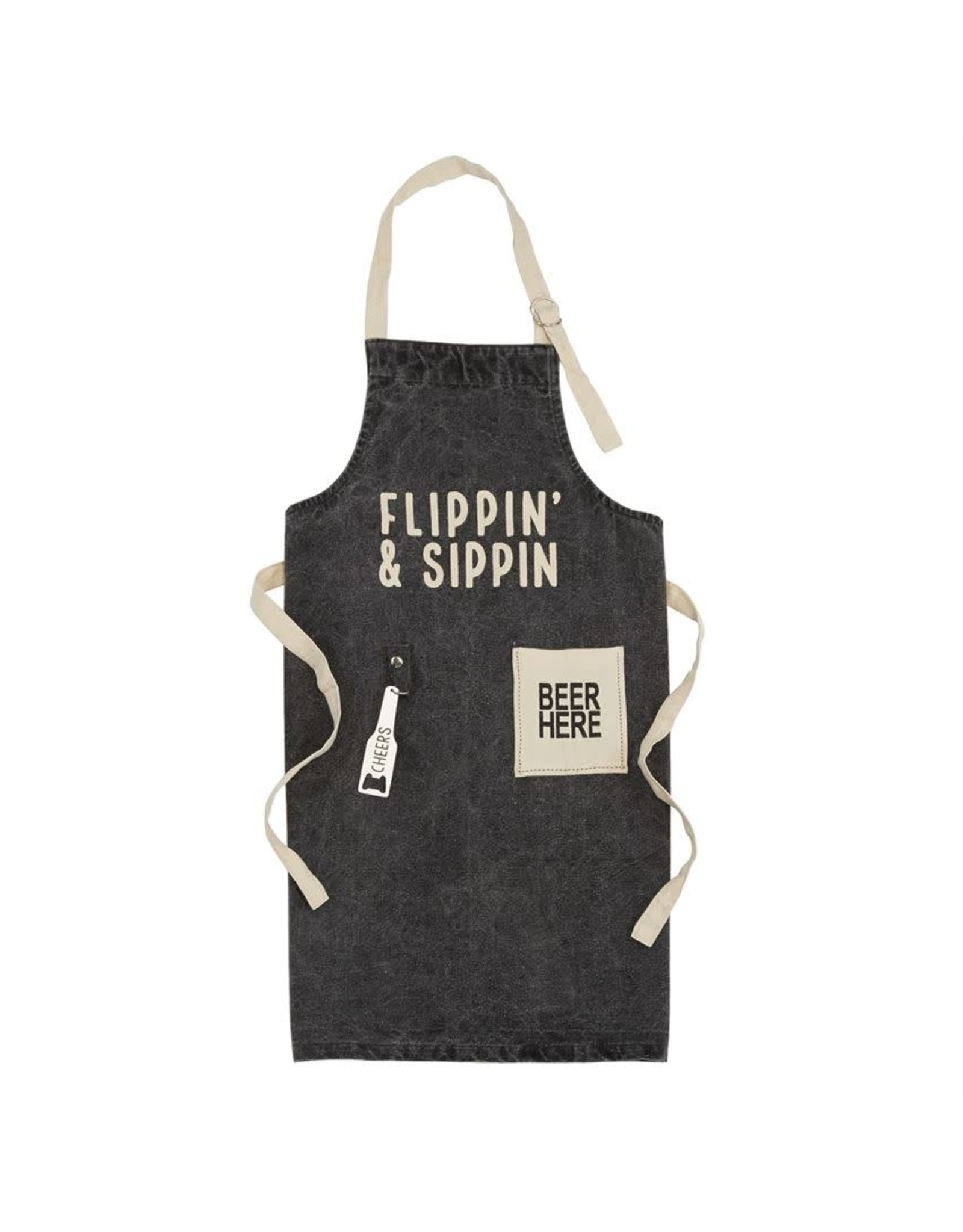 Mud Pie Flippin and Sippin Apron