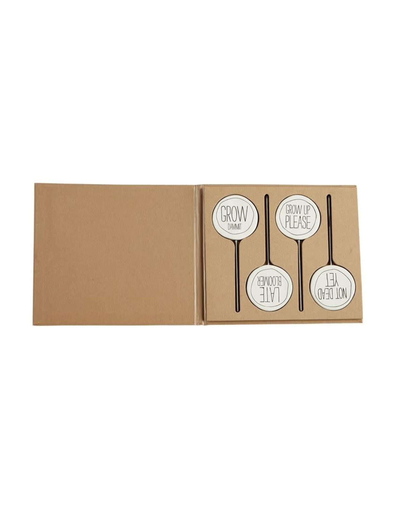 Mud Pie Bistro Plant Marker Set