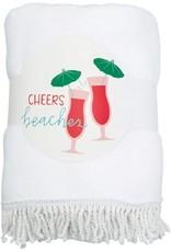Mud Pie Tropic Circle Towel Cheers