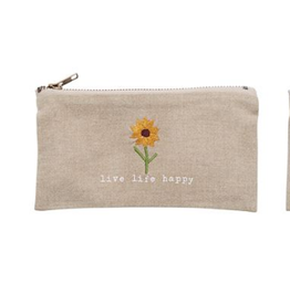 Mud Pie Live Life Pazitive Pouch