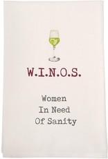 Mud Pie Winos Wine Towel
