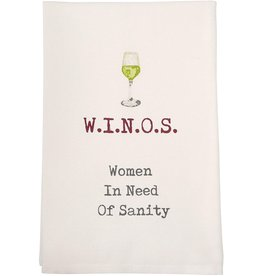 Mud Pie Winos Wine Towel
