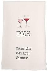 Mud Pie PMS Wine Towel