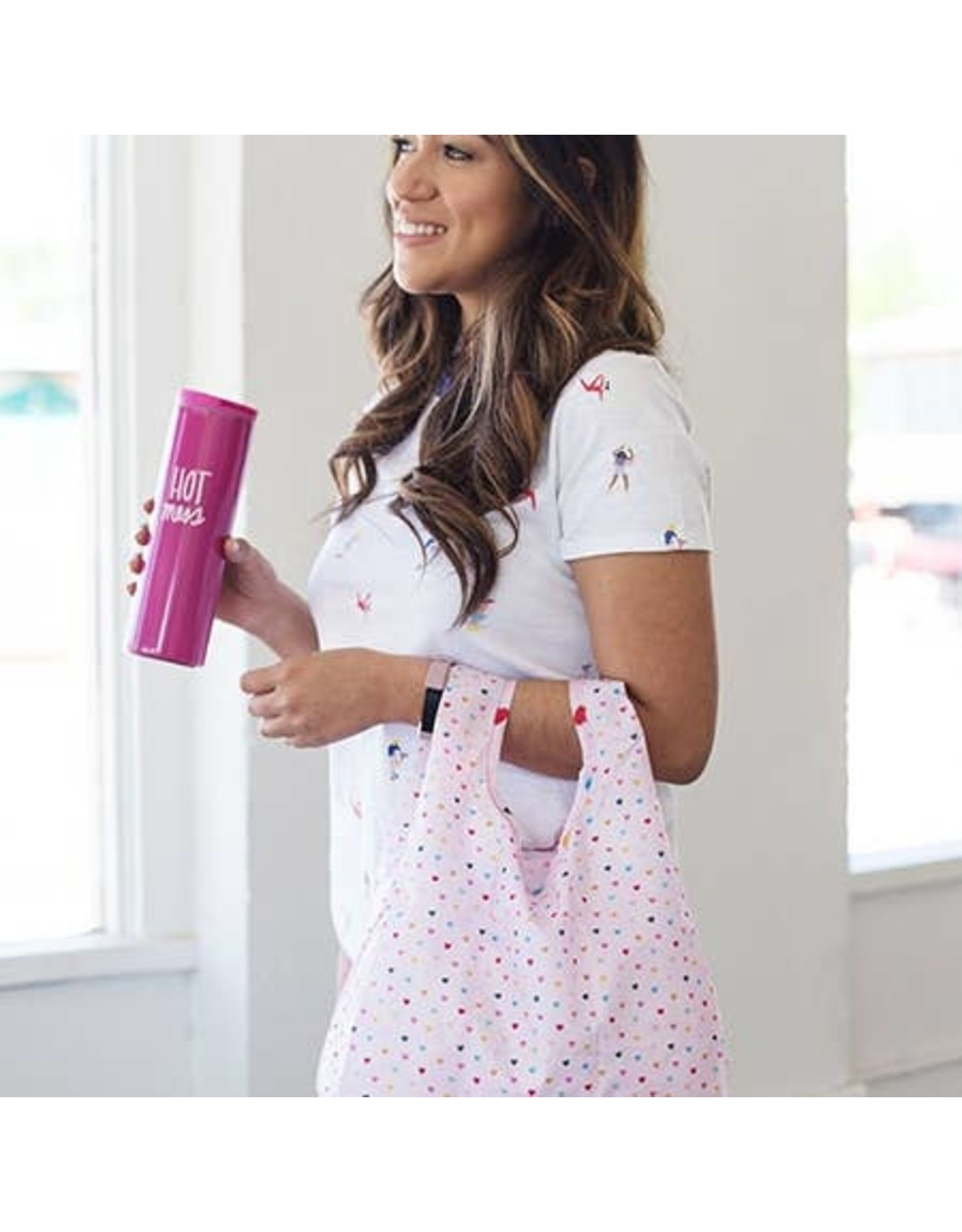 Talking Out of Turn Twist & Shout Reusable Bags - Tiny Heart