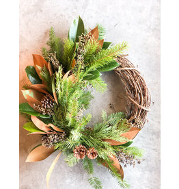 """Charming 8"""" Willow Holiday Wreath"""