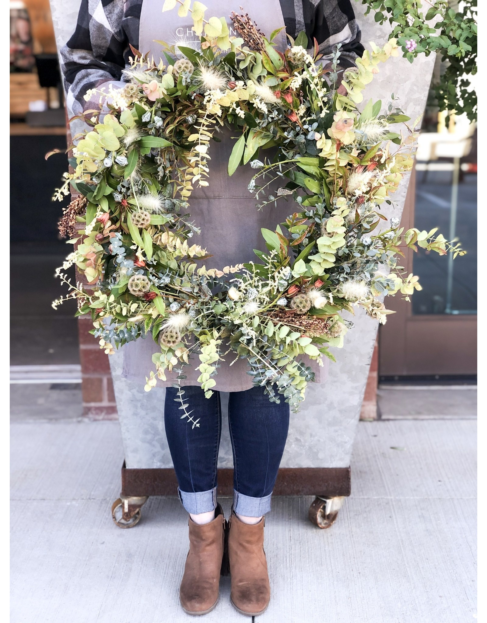 "Charming 10"" Fresh & Preserved Fall Wreath"