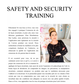 Star Lashes World Safety and Security E-Book Training