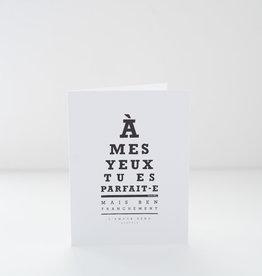 Darvee Carte - À mes yeux tu es parfait-e