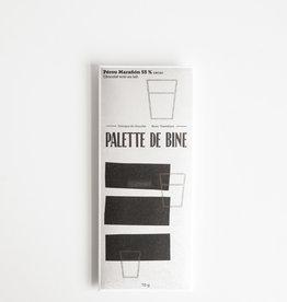 Palette de Bine Chocolat Lait Noir Pérou Marañón 55%