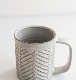 Christian Roy Tasse à café - Motif à Chevrons