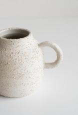 Champagne Céramique Petit Vase Bouteille avec anse