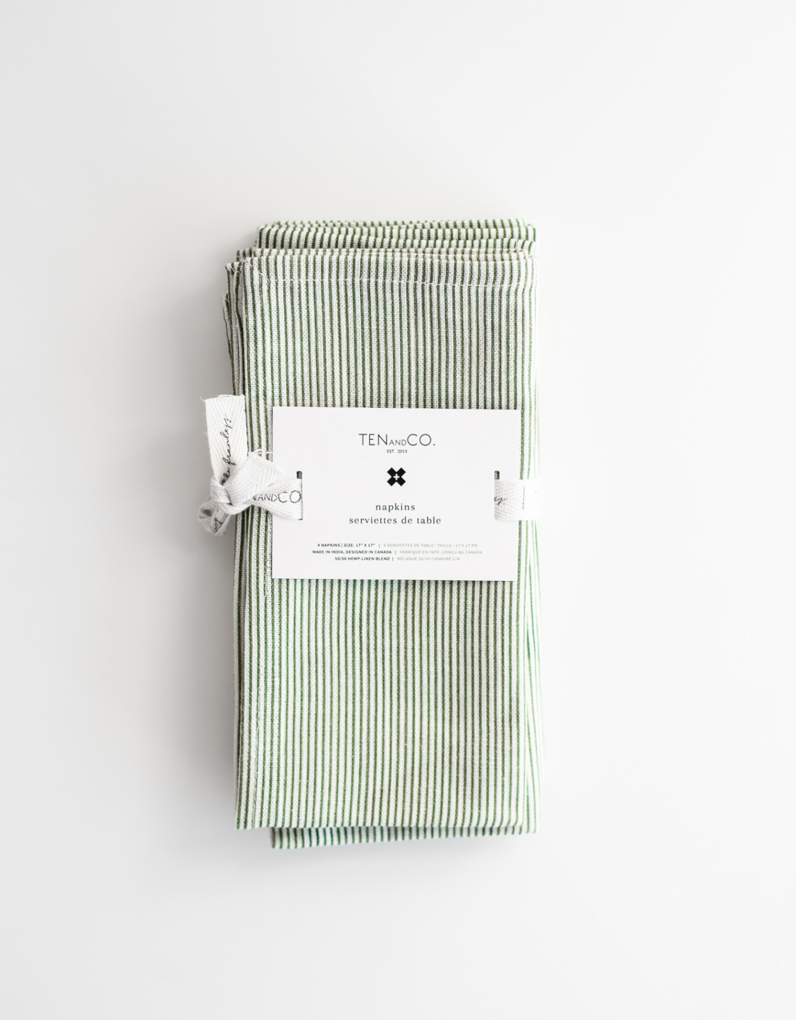 Ten & Co Serviettes de Table Rayures