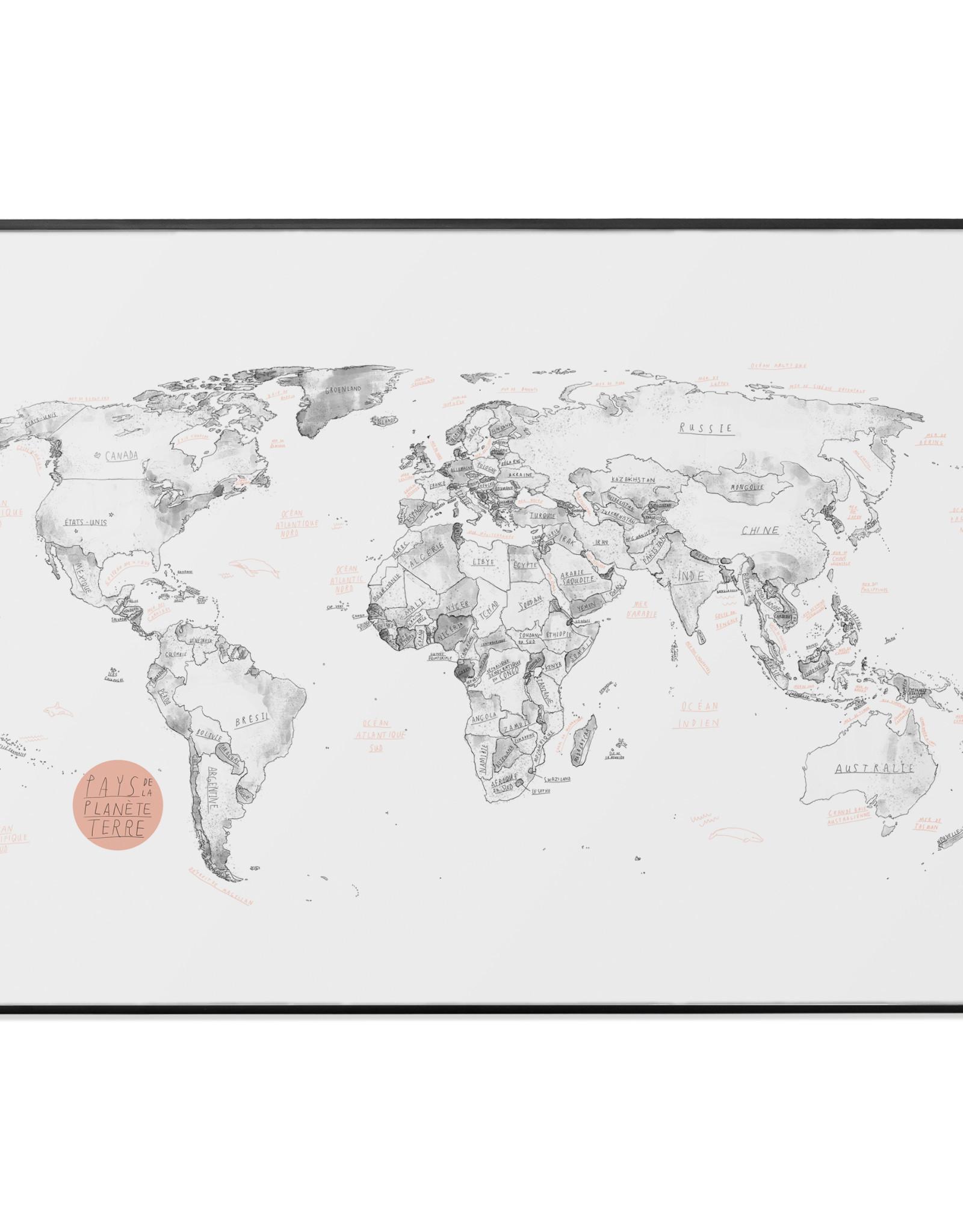 Baltic Club Affiche-Carte du Monde