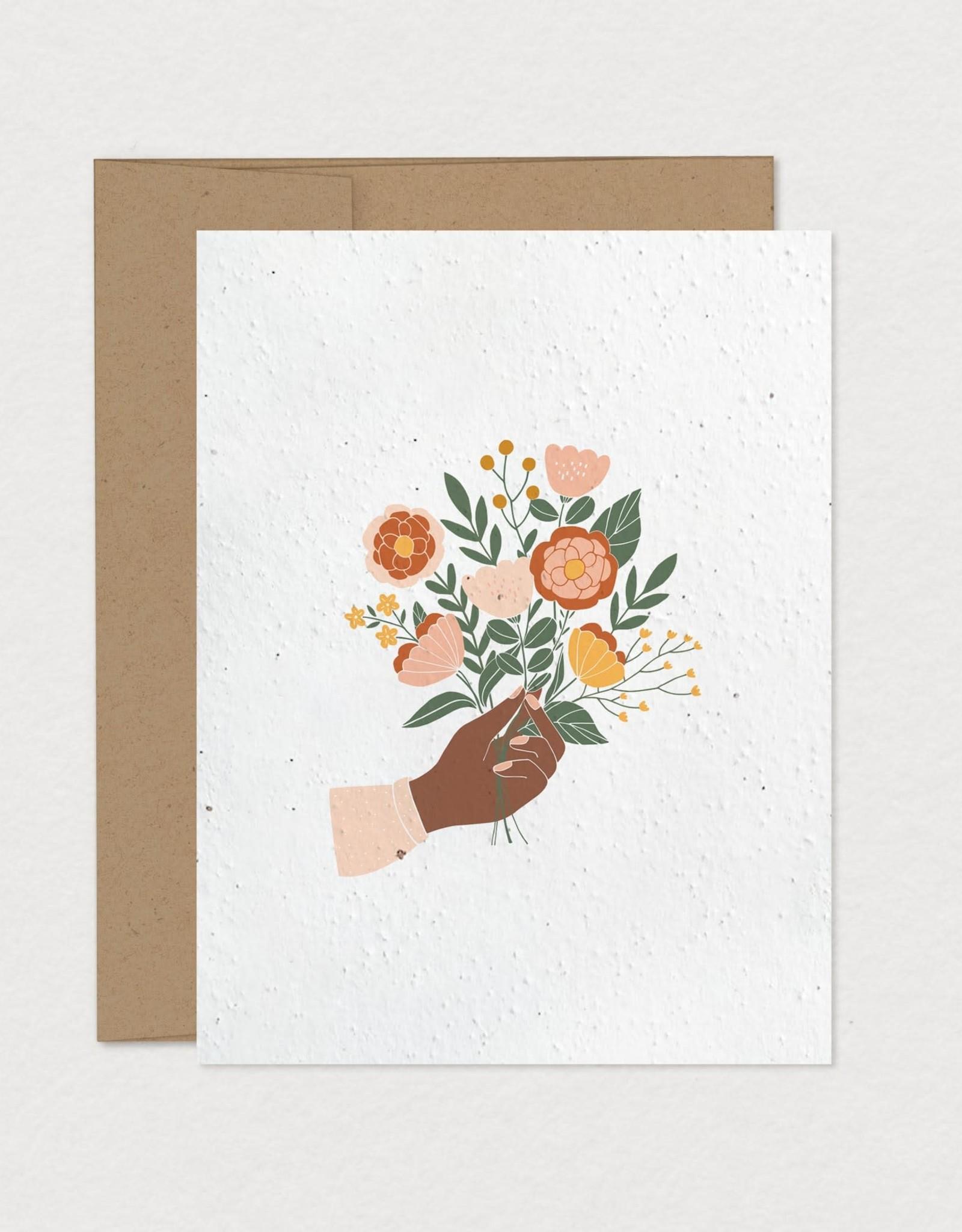Mimosa Desing Carte ensemencée- bouquet