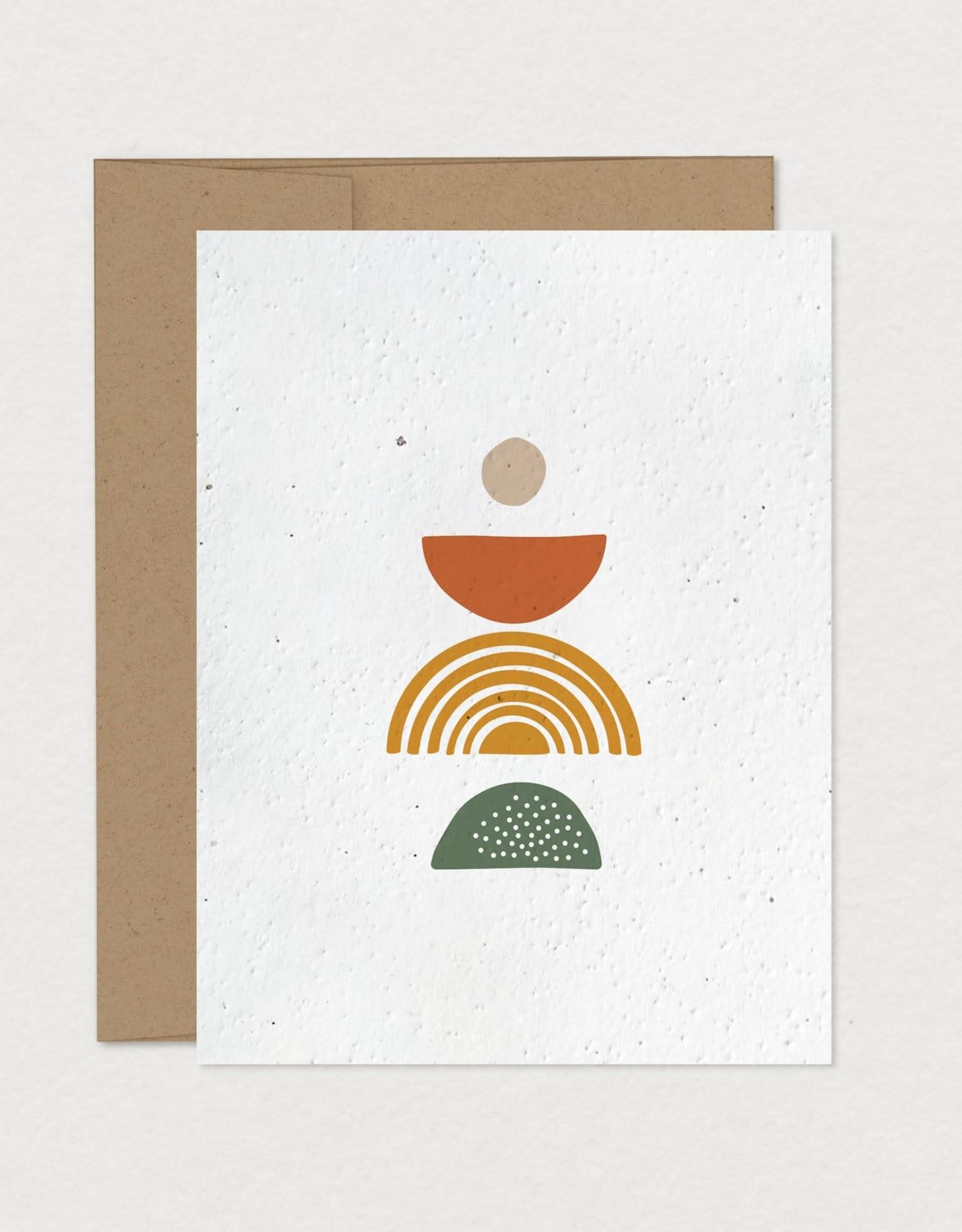 Mimosa Desing Carte ensemencée-Équilibre