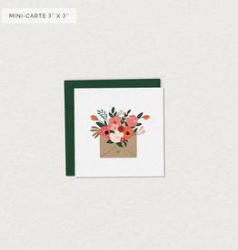 Mimosa Desing Mini Carte de souhait- Courrier du coeur