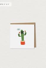Mimosa Desing Mini Carte de souhait-Aye Cactus