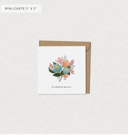 Mimosa Desing Mini Carte de souhait-Bouquet Tu embellis