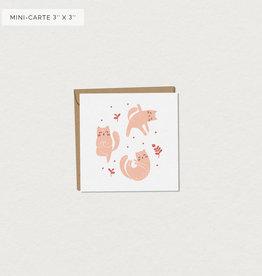 Mimosa Desing Carte de souhait-ChatMasté Mini 3x3