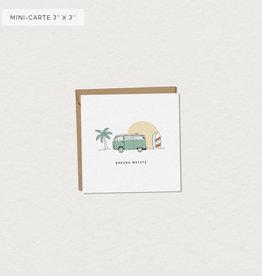 Mimosa Desing Mini carte de souhait-West Hakuna Matata