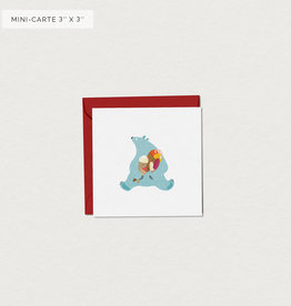 Mimosa Desing Mini Carte de souhait-Ourson Cool