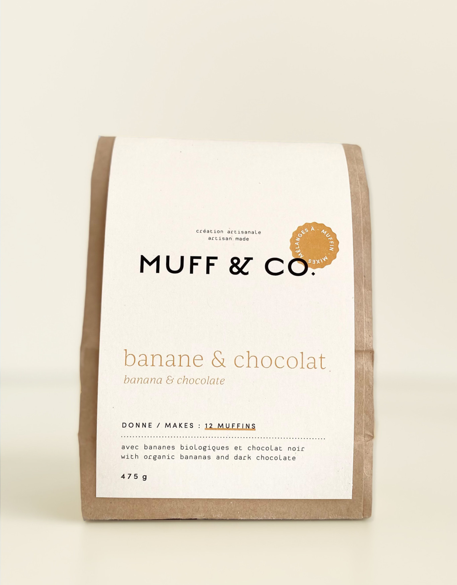 Muff & co. Mélange à muffin Banane et Chocolat