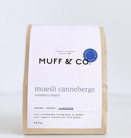 Muff & co. Mélange à muffin Muesli Canneberge