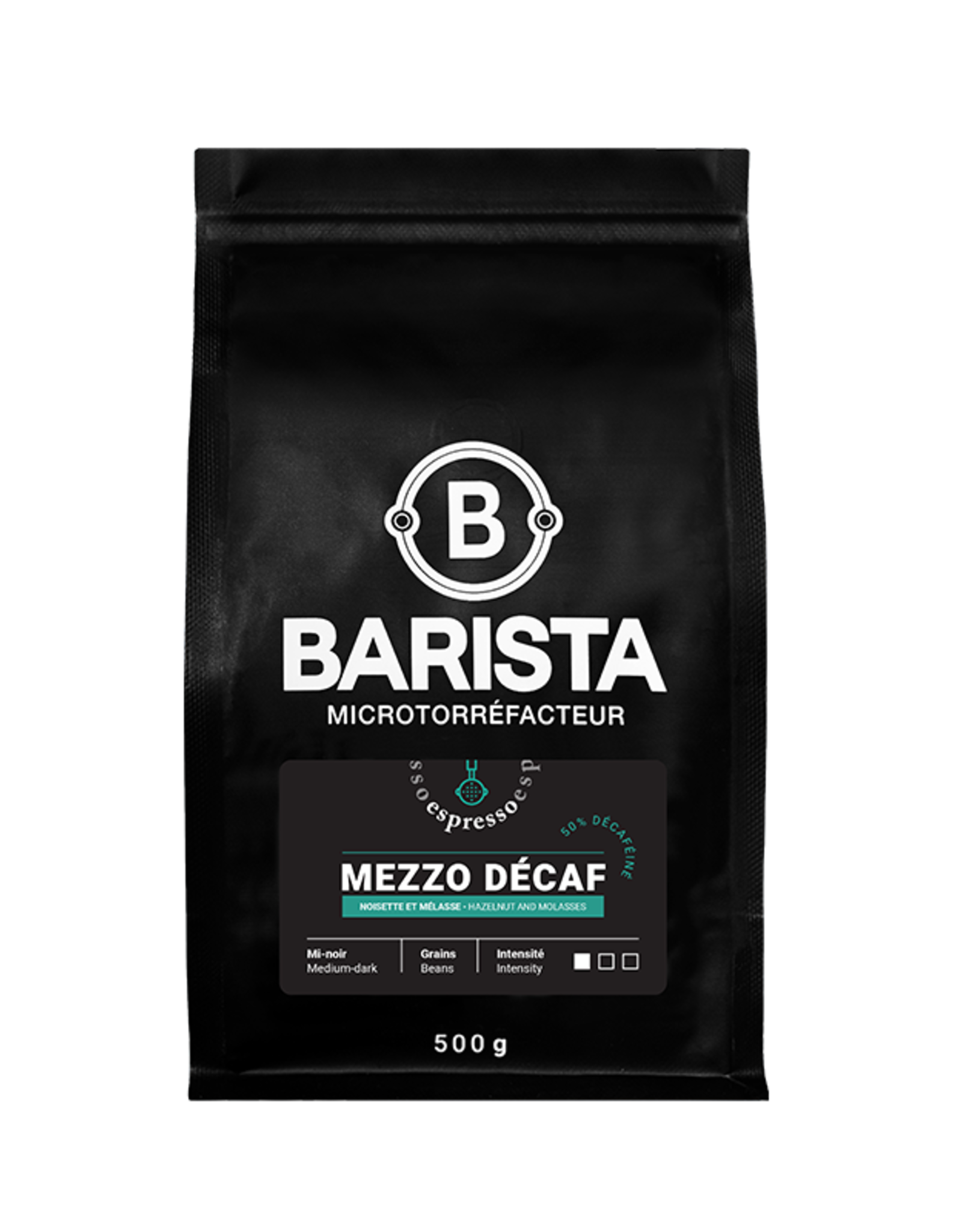 Café Barista Mezzo décaf 50% 500gr