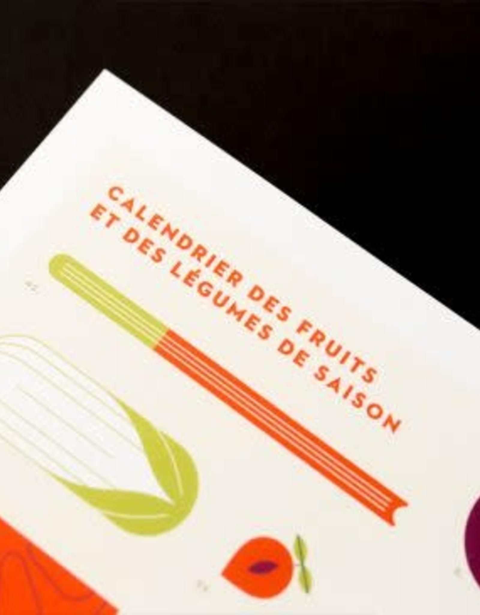 Nutritionniste Urbain Affiche Calendrier des Fruits et Légumes